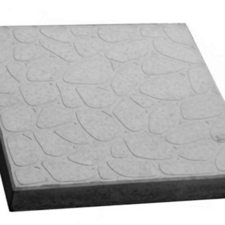Тротуарная плитка Галька морская купить недорого от производителя, серая 300*300*30