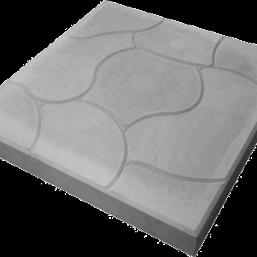 Тротуарная плитка Облако купить недорого от производителя, серая 350*350*40