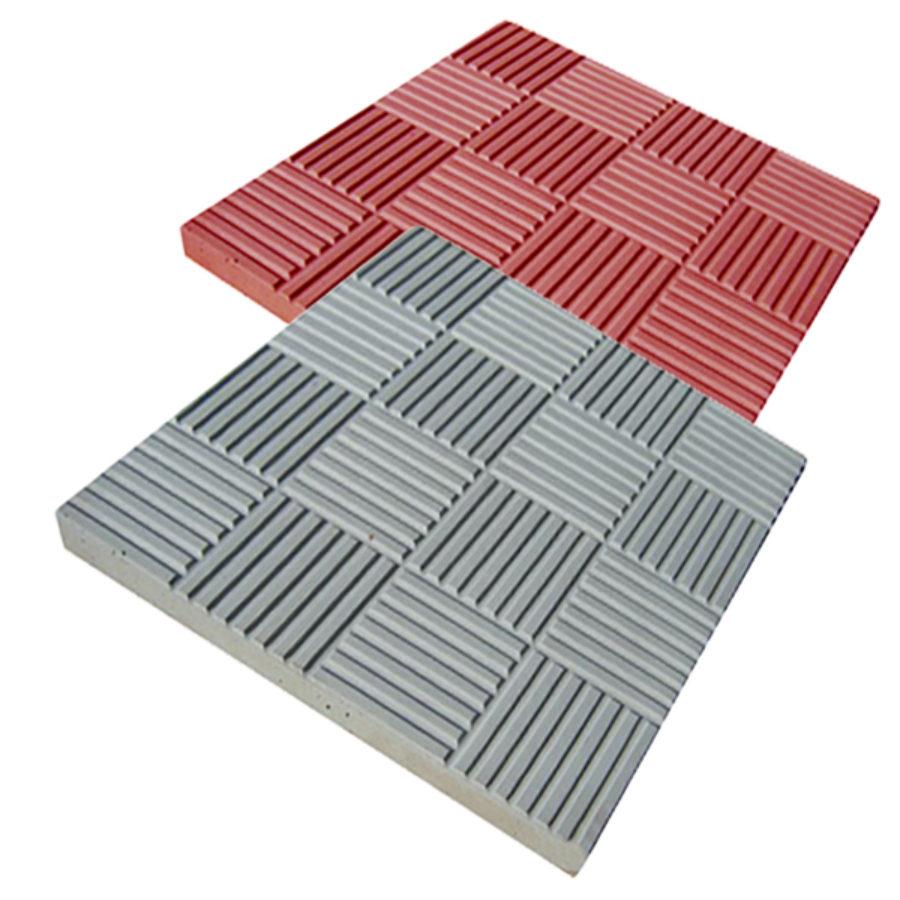 Тротуарная плитка Паркет серая, красная 300*300*30 купить недорого оптом и в розницу от производителя